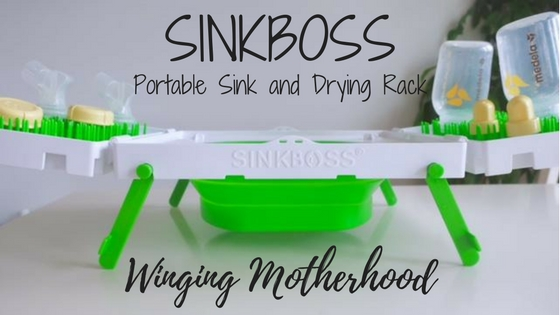 sinkboss portable sink and drying rack