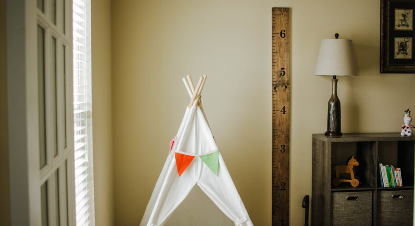 How to create your own wooden growth chart