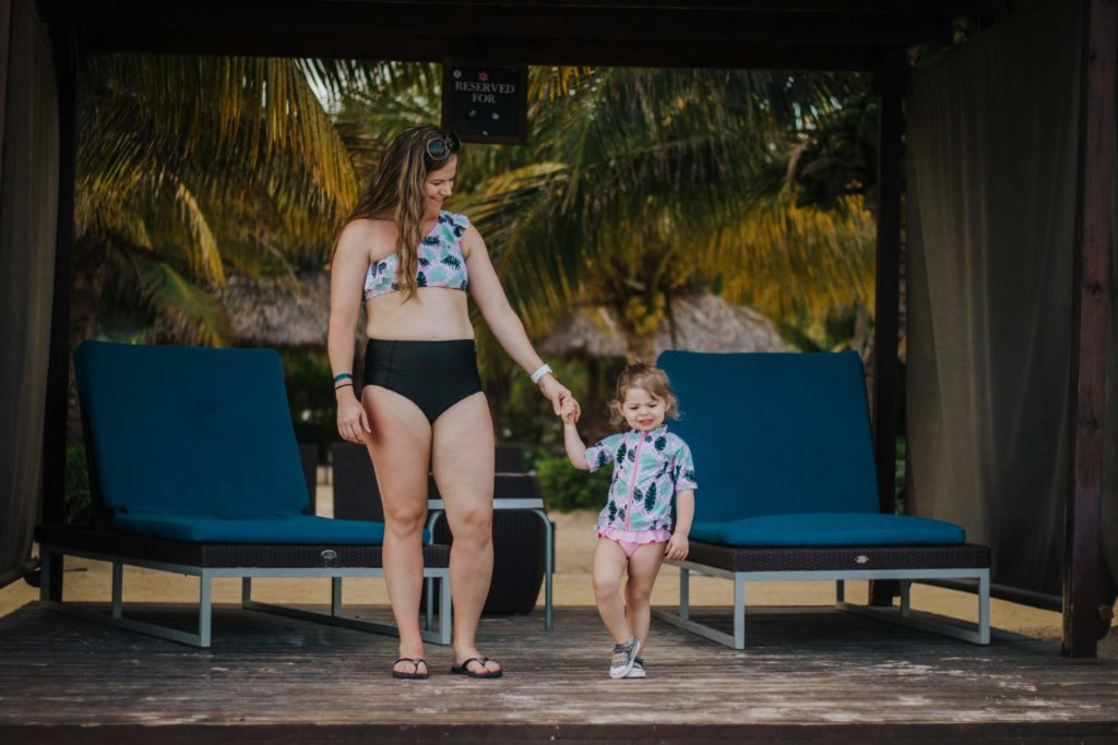 mommy and me swimzip suits