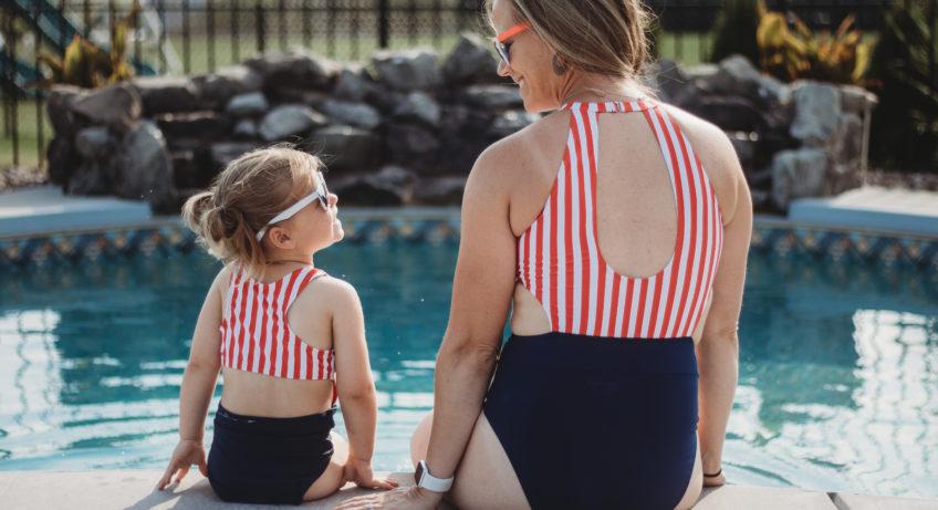 yaffi matching family swimwear