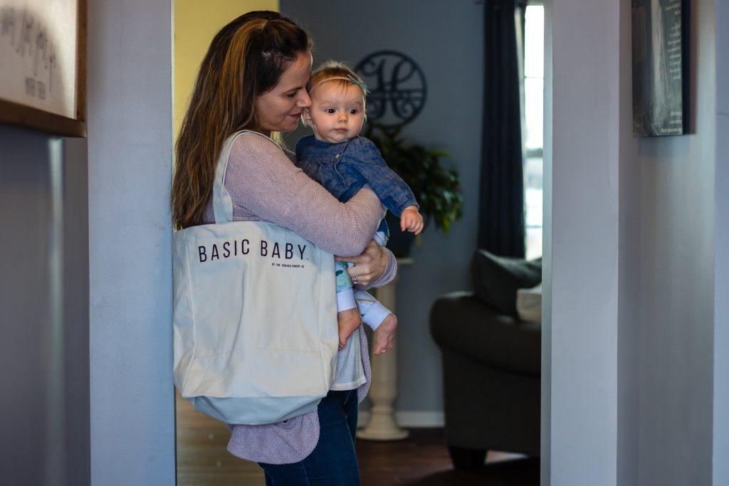 basic baby diaper bag tote